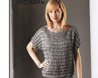 Shine On Metallic 8 designs to Knit and Crochet Pattern Booklet Patons 501005