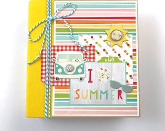 Summer Mini Album Premade Scrapbook Vacation Sun Beach Pool BBQ