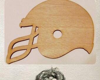 Football Helmet Wood Cut Out - Laser Cut