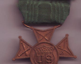 US Military Decoration with Green Ribbon Medal Exonumia