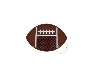 Football with Monogram space iron on applique