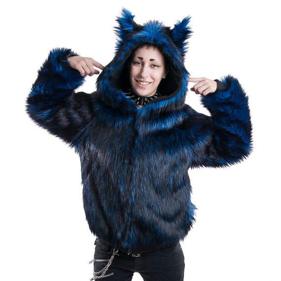 Wolf Fur Coat >> Pawstar Fancy Full Fur Wolf Hoodie Fur coat Furry Sweater