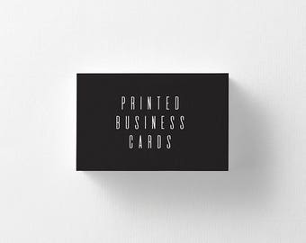 Printed Business Cards, Custom Business Cards, Matte Business Cards, Social Media Cards, Business Cards, Modern Business Cards