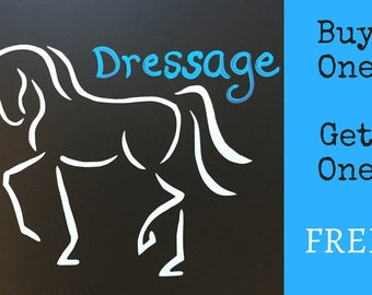 Dressage Horse Car Decal, Equine Design by Sandra Beaulieu, Horse Gift, Equine Decal, Horse Bumper Sticker, Horse Holiday Gift