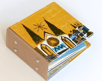 26 CD Wallet, Retro CD Case, Cd Holder Art Book, Dvd Storage Handmade from Vintage Album Cover, Ready to Ship
