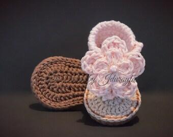 Baby Girl Sandals, Crochet Baby Sandals, Crochet Baby Shoes, Baby Girl Shoes, Baby Sandals, 0-3 Months, Baby Girl Gift, Baby Flip Flops