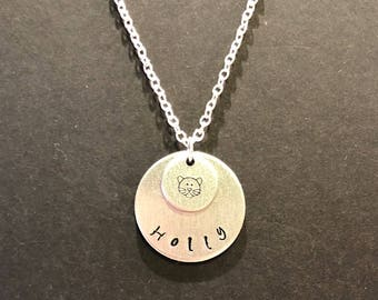 Personalized, Hand Stamped Necklace, with Choice of Design