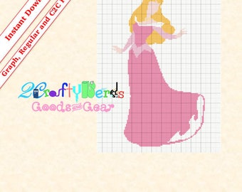 Aurora Full Dress PATTERN Afghan Graphghan Graph With Written PDF mini C2C & Regular Instructions Printable Digital Grid Crochet Knit