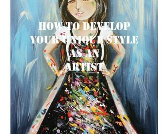 Online Art Workshop, PDF Art Class, Art E-course, Art Workshop, Art Tutorial, Art Techniques, Journaling Workshop,