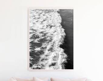 Ocean Printable Black and White, Ocean Wall Art, Ocean Photography, Ocean Print Art, Ocean Download, Ocean Photo, Ocean Art Large, o9bwp
