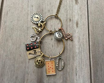 Number Charm Necklace/Numbers/Boho/Hippie/Charms