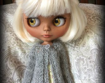 Blythe Doll Knitted Alpaca Cardigan - Light Grey