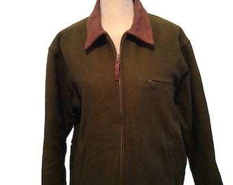 Vintage Woolrich Men's Green Wool Hunting Jacket