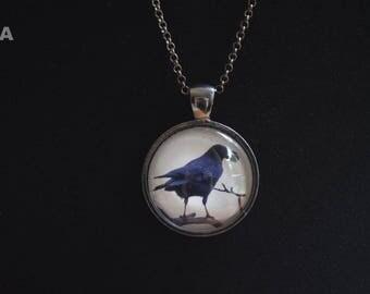 Crow Pendant Necklace