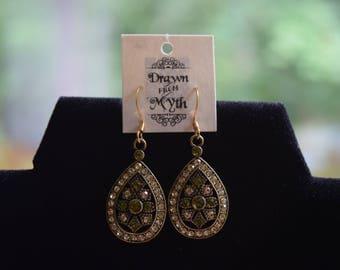 Jeweled Teardrop Earrings