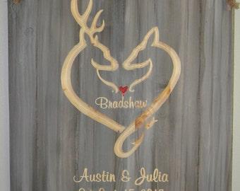Deer Heart Country Redneck Sign