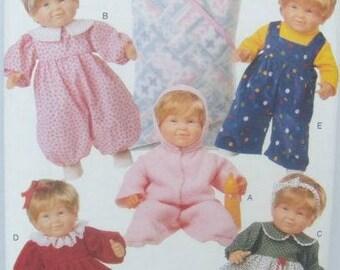 Butterick 5729 Wardrobe Pattern for 14-18 Inch Baby Dolls
