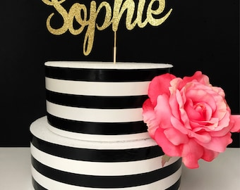 Gold- Name- Cake Topper- Centerpiece