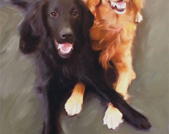 Pet Portrait - Custom Dog Painting from Photo - Personalized Fine Art - Custom Oil Painting