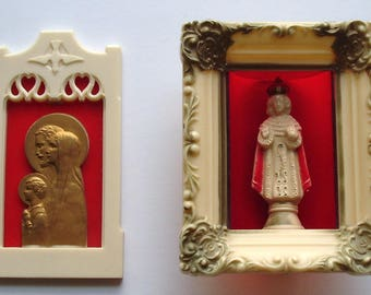 set of 2 vintage religious collectibles