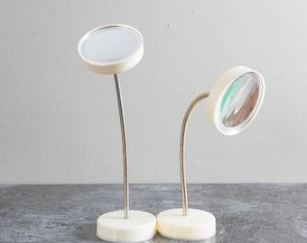 Vintage Gooseneck Magnifying Mirrors Bathroom Vanity Set of 2
