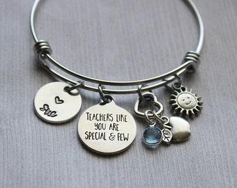 Teachers Like You Are Precious And Few Bracelet, Teacher Gifts, Teacher Gifts Ideas, Teacher Jewelry, Teacher Bracelet, Teacher, Bracelet
