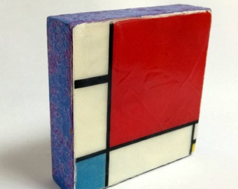 Piet Mondrian  - Composition with Red, Blue and Yellow, 1930 -  Original Art with Mixed Construction Technique.