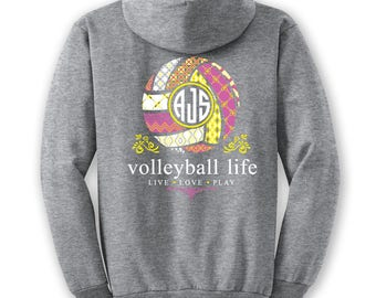OFFICIAL TM Volleyball Life YELLOW Custom Monogram Hoodie Volleyball Shirt