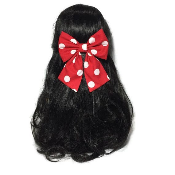 Red Polka Dot Bow, Red Hair Bow, Bows For Toddlers, Minnie Mouse Hair Bow, Bows For Girls, Handmade Hair Bow, Baby Girl Hair Bow, LwT076