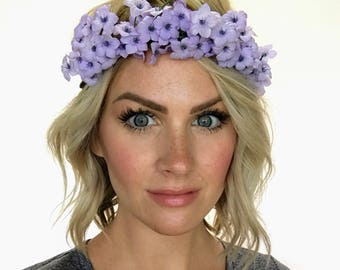 The Anastasia - Lilac Floral Crown Head Wreath