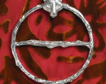 Fox Scarf Ring