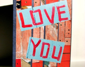 Love You Greeting Card - Thinking of You, Just Because, Anniversary, Birthday, Engagement, Wedding, Special Occasion