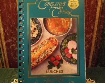 Vintage Cook Book Company's Coming, LUNCHES, Softcover/Spiral-bound Cookbook for Tried and True Recipes from Jean Pare, Canada