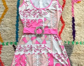 90s does 60s mini dress