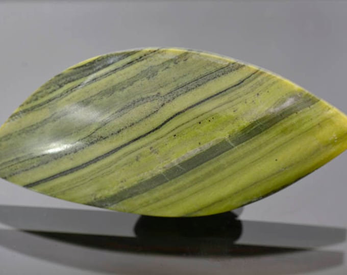 SALE EVENT! Nice Green Banded Ricolite Cabochon from New Mexico 85.61 cts.