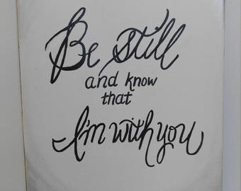 Be still calligraphy