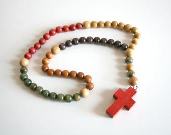 Handmade Wood Rosary Cross