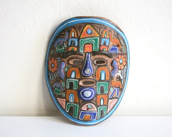 Hand Painted Mexican Folk Mask