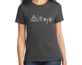 Women's Always Harry Potter T Shirt | Deathly Hallows | Wizard Wand | Quidditch Goals | Dementor | Broom | Snake | Harry Potter Merchandise