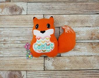 Personalized Fox Stuffed Animal - Baby Gift - Fox with Name - Fox - Plush Fox - Fox Stuffie - Baby Shower - Fox Lovey - Fleece