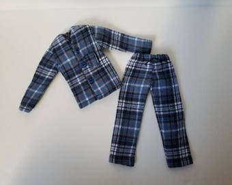 Blue PJ set for Taeyang dolls