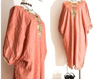 70s DRESS 70s Vintage Clothing 70s Clothes 70s Kaftan Dress PLUS SIZE Kaftan Maxi Dress Kaftan Women Kaftan Tunic Kaftan Moroccan One Size