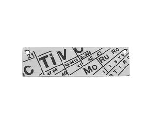 Science pendant etsy stainless steel periodic table 36 cm sold individually science pendant science bookmark urtaz Image collections