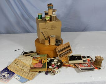Bag of Vintage and Newer Sewing Supplies