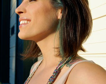 The Libera- Extra- Long Multi- Strand Seed Bead Necklace