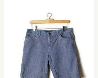 ON SALE Ralph Lauren  Blue x White Stripe Denim Shorts from 90's/W30*