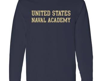 United States Naval Academy Long Sleeve Tee - Navy