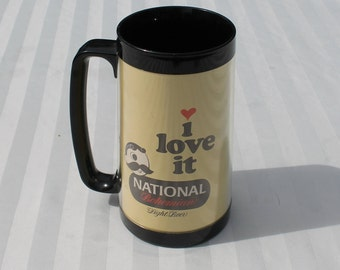 National Bohemian High Beer Mug by Thermo-Serv, West Bend - Natty Boh - Mr. Boh - National Brewing Co.