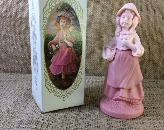 Avon Pretty Girl Pink in original box, Pretty Girl Pink somewhere cologne from the 70's. Avon collectibles, pink figurine