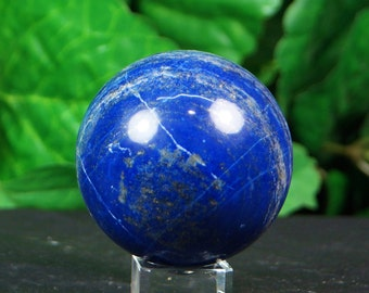 Lapis lazuli sphere hand carved  hand polished mineral specimen  300 Grams from, Afghanistan